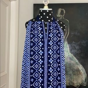 never worn blue and white dress (fits medium)